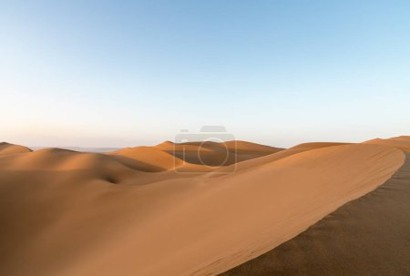 desert landscape in sunset,beautiful lines of sand dunes, clipping path included