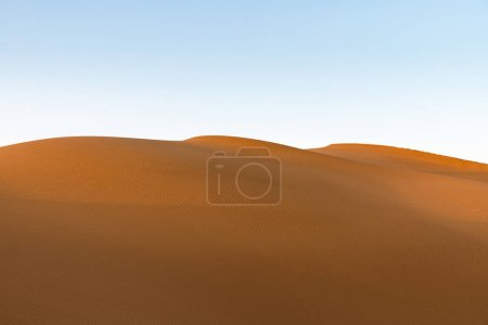 golden sand dunes in sunset, desert background texture,clipping path included
