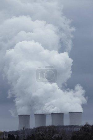 烟囱,发电厂