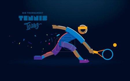 网球矢量线图标