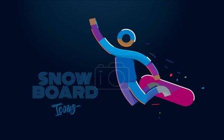 滑雪板在跳