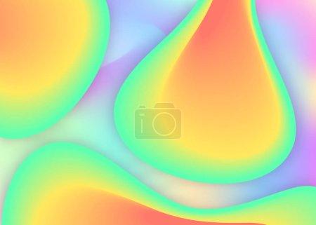 具有流体动态元素和形状的流体背景.