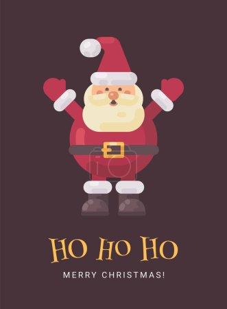 快乐笑圣诞老人圣诞贺卡
