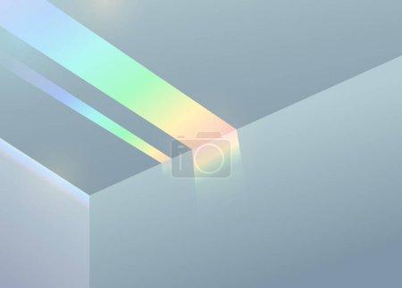 Light effects minimal cold dream vaporwave background template design