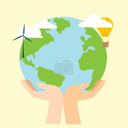 拯救星球概念,多彩的背景