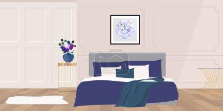 bedroom interior, vector illustration