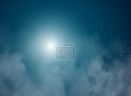 抽象向量背景与夜空和星。星夜的天空。星星, 天空, 夜晚。夜晚, 星空中的深蓝色天空.