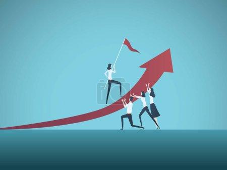商业合作挑战风格插画