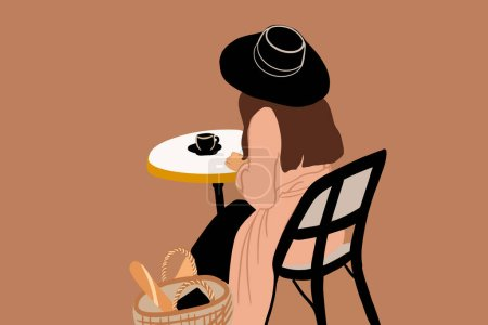 Woman at the french cafe
