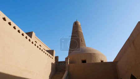 Emin minaret or Sugong tower in Turpan. the largest ancient Isla