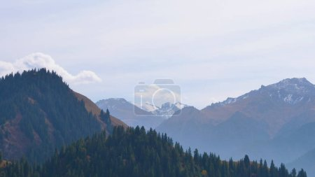 Nature landscape view Heaven Lake of Celestial Mountains in Xinj