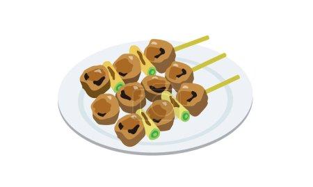 Japanese food yakitori on a plate