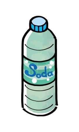 Illustration of soda water for plastic bottle beverage