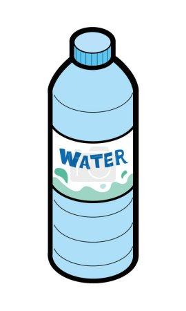 Illustration of bottled mineral water