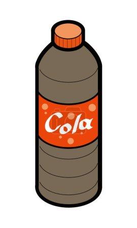 Illustration of cola for plastic bottle beverage
