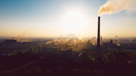 污染严重的工业景观