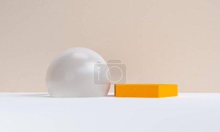 Geometrical Minimalist abstract background, primitive  figures,